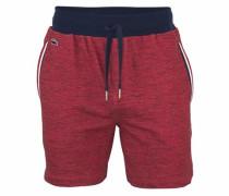 Shorts in Melange Optik rot