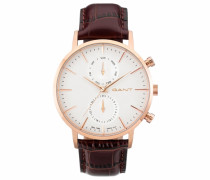 Multifunktionsuhr »Park Hill Day-Date W11203« braun / rosegold