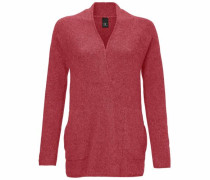 Oversized-Pullover mit Effektgarn pastellrot