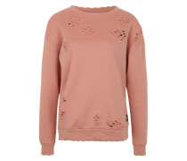 Sweatshirt 'destroyed sweatshirt' pink