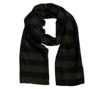 Schal im Streifen-Look schwarz