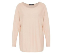 Oversize-Pullover aus Feinstrick puder