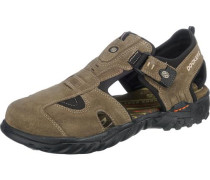 Halbgeschlossene Outdoor-Sandale khaki