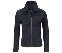 Lederjacke aus Porcvelours blau