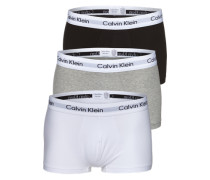 Retro-Boxershorts im 3er Pack graumeliert / schwarz / weiß