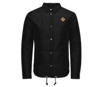 Gesteppte leichte Camouflage-Jacke schwarz