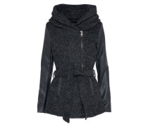 Mantel 'lisford' schwarzmeliert