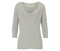 Shirt mit Wasserfalssausschnitt grau
