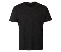 Rundausschnitt T-Shirt schwarz