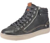 High Top Sneaker mit Reißverschluss schwarz