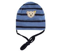 Mütze zum Binden blau