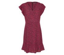 Kleid in leichter A-Linie rot / schwarz
