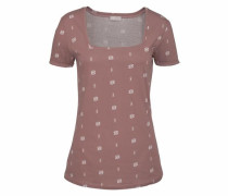 T-Shirt altrosa / naturweiß