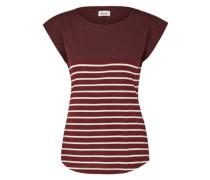 Shirt 'Newport' beige / burgunder