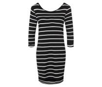 3/4-Arm-Kleid 'OBJElona' navy / weiß