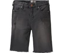 Jeansshorts für Jungen dunkelgrau