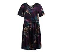 Geblumtes Kleid aus Modal mischfarben
