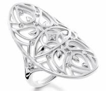 Diamantring 'd_Tr0025-725-21' silber