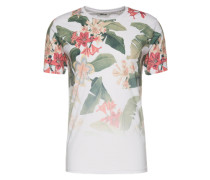 Tshirt 'palm Flower' weiß
