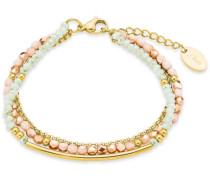 Armband mit Glassteinen gold