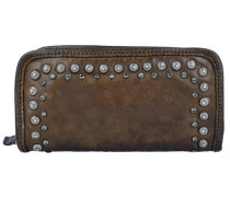 'Lichene' Geldbörse Leder 21 cm khaki