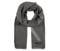 Schal mit Jacquard-Muster schwarz
