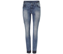 Jeans im Used-Look blau