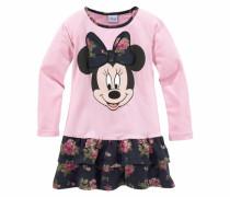 Jerseykleid mit Minnie Mouse Druckmotiv pink