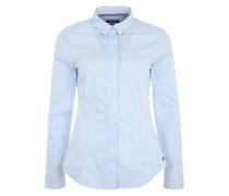 Bluse im Slim-Fit hellblau / weiß