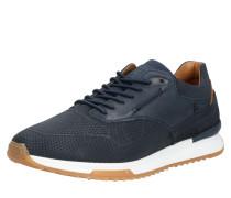 Sneaker dunkelblau / weiß / braun
