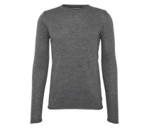 Pullover 'knit' grau