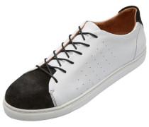 Sneaker Leder- weiß