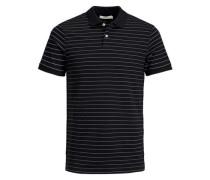 Gestreiftes Poloshirt schwarz