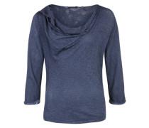 Shirt mit 3/4-Arm blau