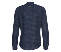Hemd 'sporty patterned slub shirt' dunkelblau