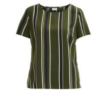 Bluse grün / schwarz / weiß
