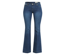 Flared Jeans blau