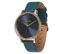 Armbanduhr 'Kensigton Leather' (Gehäuse: 33 mm) blau / gold