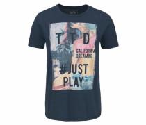 Denim T-Shirt marine / mischfarben