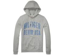 "Hilfiger Denim Sweatshirt ""thdm Basic RIB HD Hknit L/S 12"" grau"