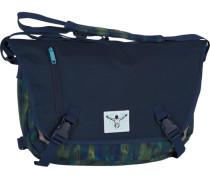 Sport Messenger 41 cm Laptopfach blau / hellgrün