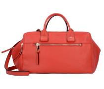 Handtasch Leder 34 cm rot