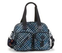 'Defea' Handtasche 33 cm blau / schwarz / weiß
