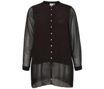 Transparentes Hemd schwarz