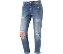 Mika Boyfriend Jeans Damen blau