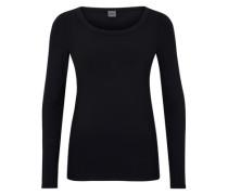 Schlichtes Jersey-Shirt schwarz