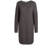 Langer Woll-Pullover grau