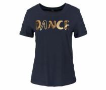 Rundhalsshirt 'dance' kobaltblau