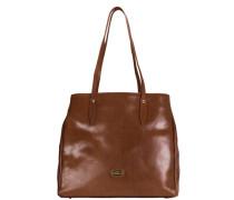 Story Donna Leder Shopper Tasche 32 cm braun
