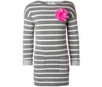 Kleid Hinsdale grau / neonpink / weiß